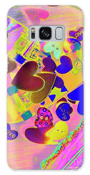 Neon Galaxy Case - Heart Stack - Fallen For Sk8 by Jorgo Photography - Wall Art Gallery