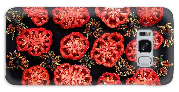 Heirloom Tomato Grid Galaxy Case