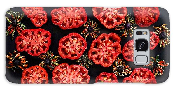 Heirloom Tomato Grid Galaxy Case