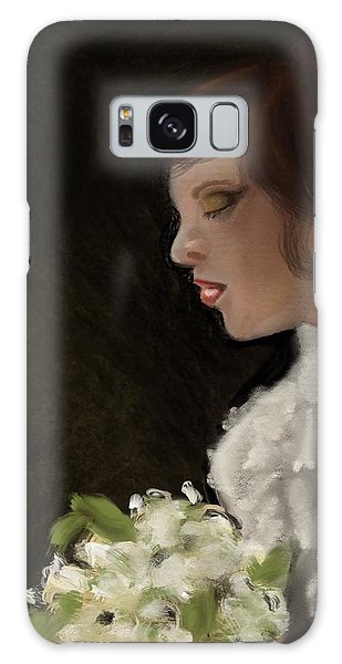 Galaxy Case featuring the painting Her Big Day by Fe Jones