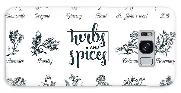 Healing Galaxy Case - Herbs And Spices Set. Hand Drawn by Vlada Young