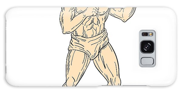 Sportsman Galaxy Case - Hercules In Boxer Fighting Stance Drawing Color by Aloysius Patrimonio