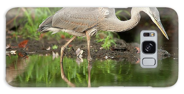Heron Fishing Galaxy Case