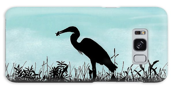 Heron Has Supper Galaxy Case