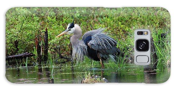 Heron In Beaver Pond Galaxy Case
