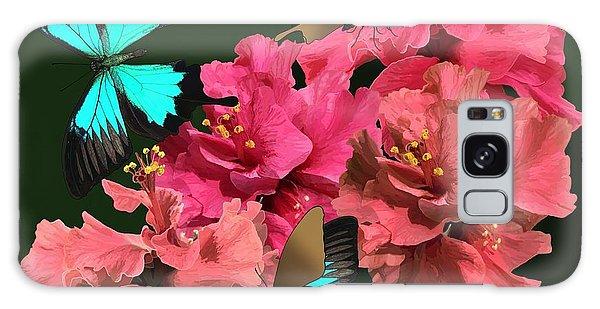 Hibiscus Butterfly Joy Galaxy Case