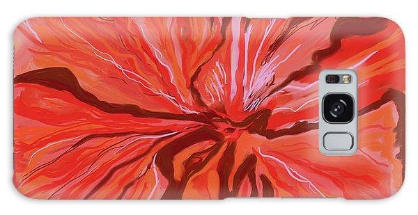 Hibiscus Color Lines Galaxy Case