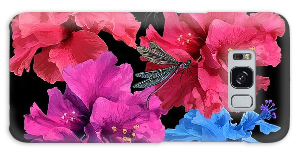 Hibiscus Dragonfly Galaxy Case
