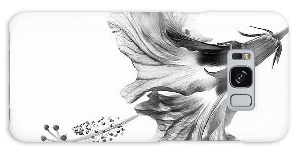 Hibiscus Galaxy Case - Hibiscus In Black And White by Christopher Johnson