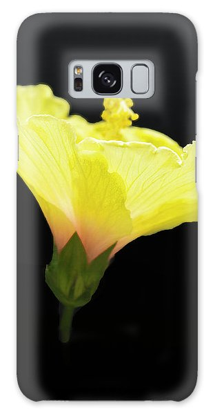 Hibiscus In Black Galaxy Case