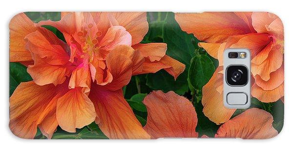 Hibiscus Tripcus Orangus Galaxy Case