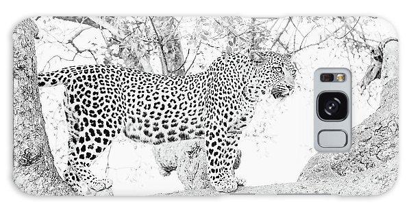 High Key Leopard Galaxy Case