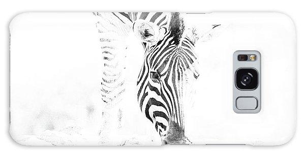 High Key Zebra Drinking Galaxy Case