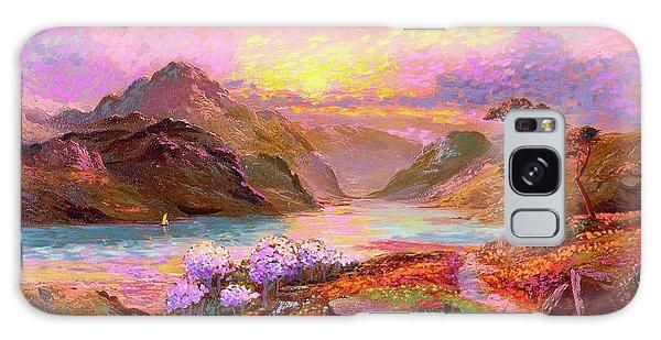 Mountain Lake Galaxy Case - Highland Lake by Jane Small