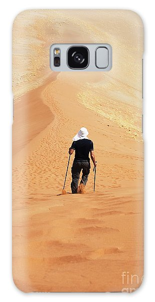 Sand Dunes Galaxy Case - Hike In Sand Desert by Galyna Andrushko