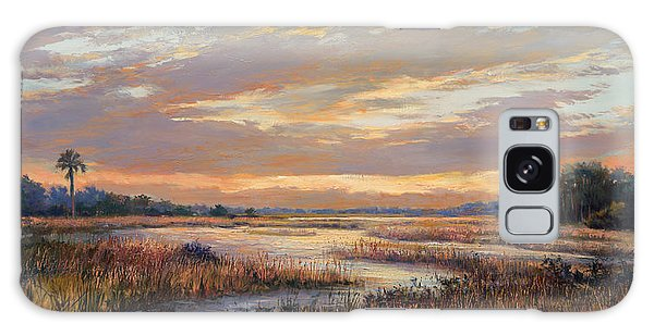Old Florida Galaxy Case - Hilton Sunrise by Laurie Snow Hein