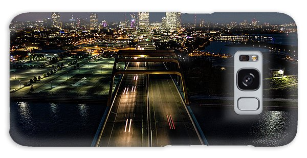 Galaxy Case featuring the photograph Hoan Bridge Streaks by Randy Scherkenbach