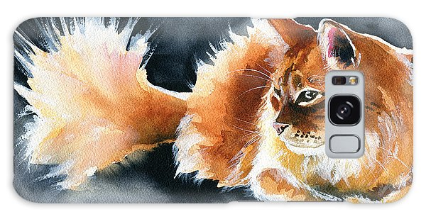Holy Ginger Fluff - Cat Painting Galaxy Case