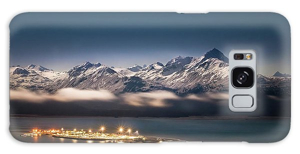 Homer Spit With Moonlit Mountains Galaxy Case