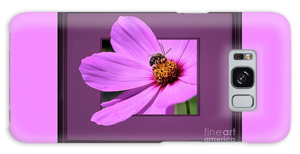 Honey Bee On Pink Galaxy Case