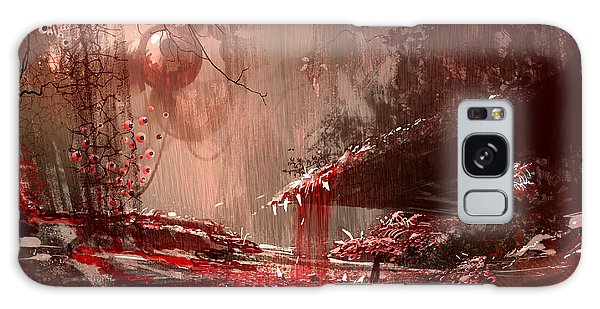 Nightmare Galaxy Case - Horror Landscape Painting,illustration by Tithi Luadthong