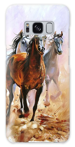 Glow Galaxy Case - Horse Equestrian Passion Oil Painting by Marc Little
