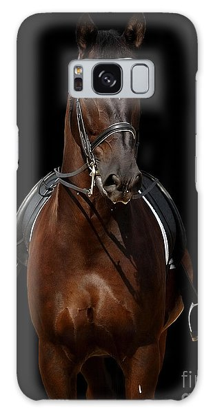 Sportsman Galaxy Case - Horse Isolated On Black by Abramova Kseniya