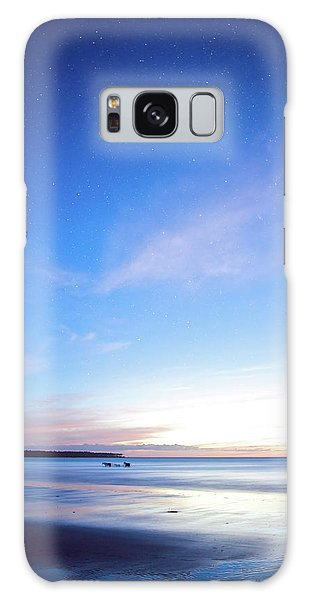 Horses Play In The Surf At Twilight Galaxy Case