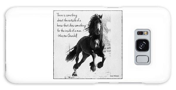 Horse's Profound Spirit  Galaxy Case