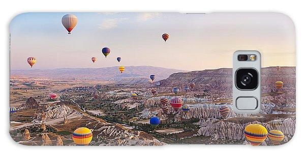 Geology Galaxy Case - Hot Air Balloon Flying Over Rock by Tatiana Popova