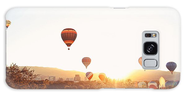 Scenery Galaxy Case - Hot Air Balloons In The Sky During by Annette Shaff