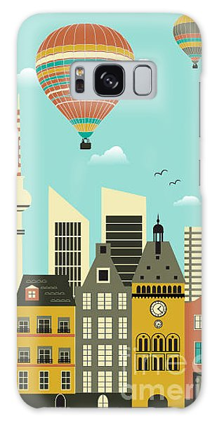 Cloudscape Galaxy Case - Hot Air Balloons Over The City.vector by Ladoga