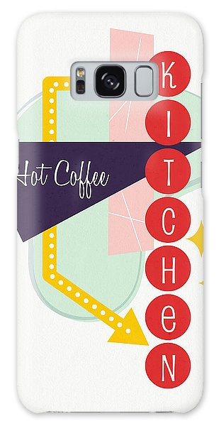 Galaxy Case featuring the digital art Hot Coffee Kitchen- Art By Linda Woods by Linda Woods