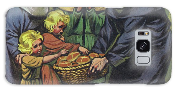 Alms Galaxy Case - Hot Cross Buns Being Distributed To The Poor At St Albans Abbey On Good Friday 1361 by Angus McBride