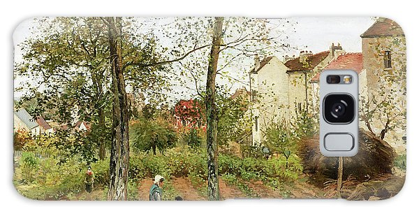 Country Living Galaxy Case - Houses At Bougival, Autumn - Digital Remastered Edition by Camille Pissarro