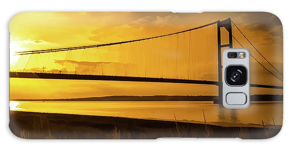 Humber Bridge Golden Sky Galaxy Case
