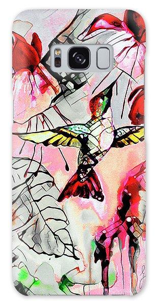 Hummingbird Abstract Modern Bird Art Galaxy Case