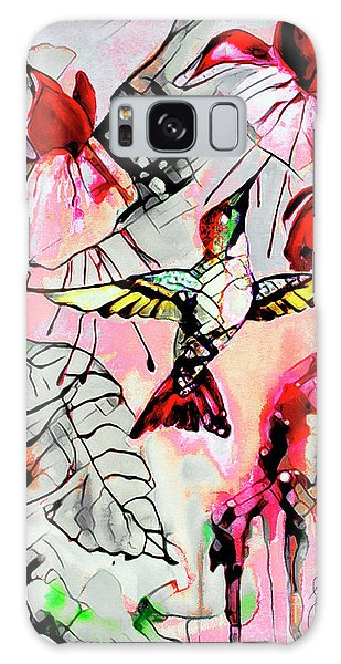 Hummingbird Abstract Modern Bird Art Galaxy Case