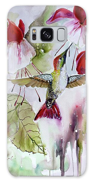 Hummingbird And Flowers Galaxy Case
