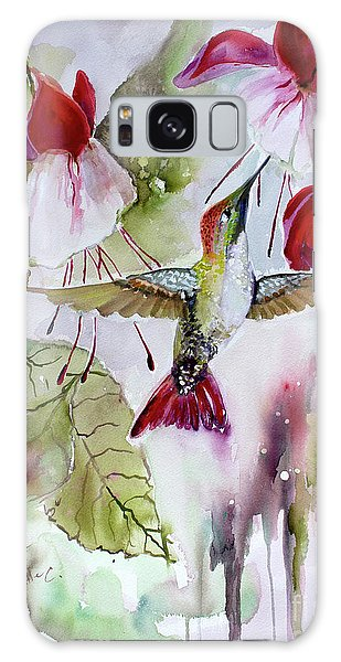 Hummingbird And Flowers Galaxy Case