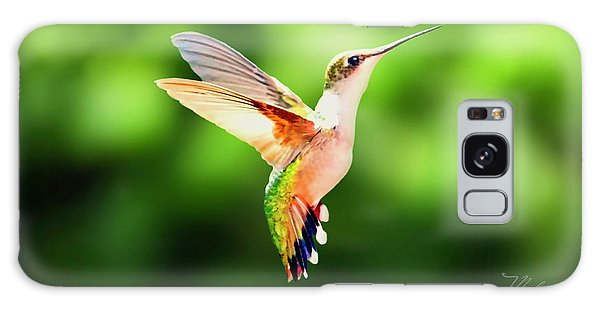 Hummingbird Hovering Galaxy Case