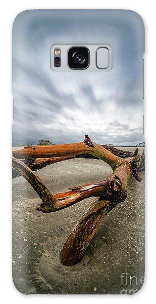 Hurricane Florence Beach Log - Portrait Galaxy Case