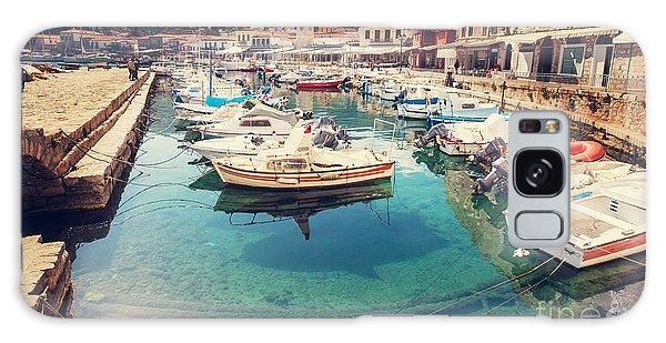 Docked Boats Galaxy Case - Hydra Island, Greece by Galyna Andrushko