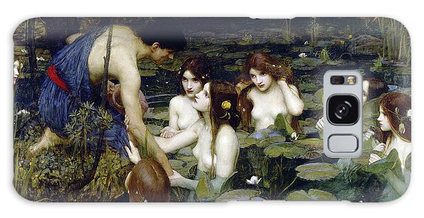 Sea Lily Galaxy Case - Hylas And The Nymphs, 1896 by John William Waterhouse