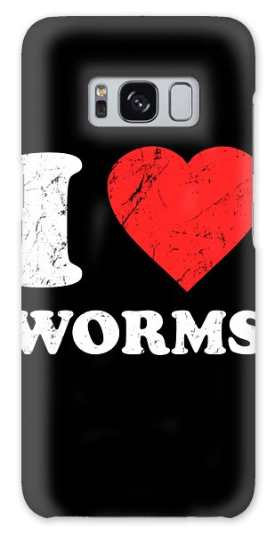 I Love Worms Galaxy Case