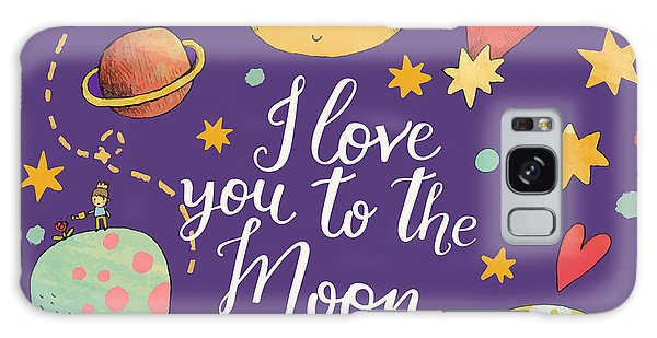 Spaceship Galaxy Case - I Love You To The Moon And Back by Smilewithjul
