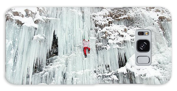 Success Galaxy Case - Ice Climbing The Waterfall by Vitalii Nesterchuk