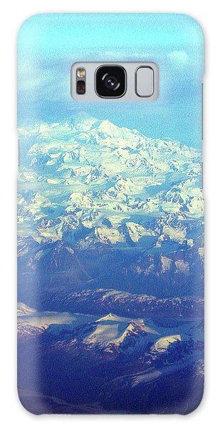 Ice Covered Mountain Top Galaxy Case