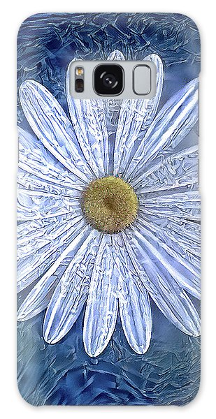 Ice Daisy Flower Galaxy Case
