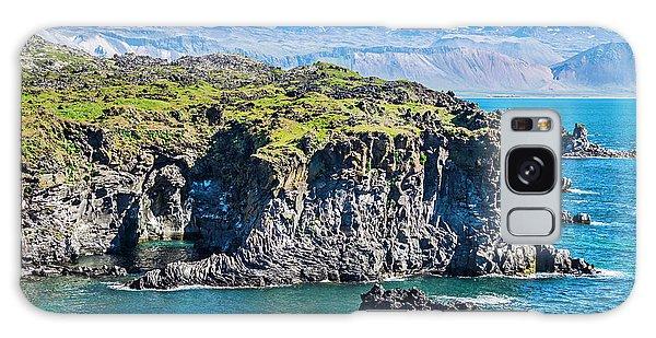 Basalt Galaxy Case - Iceland, Arnarstapi, Basalt Rock Cliffs by Miva Stock
